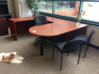 bullet u shaped office desk for sale Kenosha